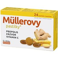 Müller's Lozenges® with Propolis, Ginger and Vit. C 24 pcs - Herbal Lozenges