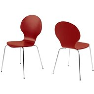 Dining plywood chair Line (SET 4 pcs) tomato - Chair