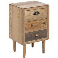 Bedside Table with Thess Drawers, 59cm, Brown - Night Stand