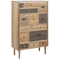 Design Scandinavia Chest of Drawers with 13 Drawers, 114cm, Brown - Chest of Drawers