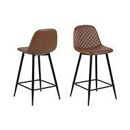 Bar chair Wanda (SET 2 pcs), cognac - Bar Stool
