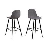 Bar chair Wanda (SET 2 pcs), sv. grey - Bar Stool
