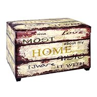 Bench with Storage Space Home with Love, 65cm - Bench