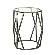 Konferenční stůl Derek, 50 cm, antická bronzová - Konferenční stolek