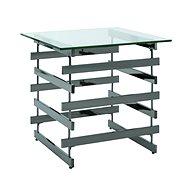 Konferenční stolek Tony, 55 cm, tmavý chrom - Konferenční stolek
