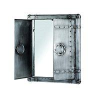 Nástěnná skříňka se zrcadlem Trident, 71 cm, antracitová - Skříňka