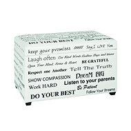 Slogana Bench, 65cm, White/Black - Bench