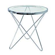 Odkládací stolek Travis, 56 cm, čirá / chrom - Odkládací stolek