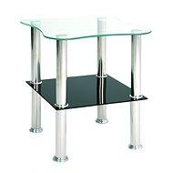Konferenční stolek Azariah, 47 cm, nerez / černá - Konferenční stolek