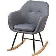 Milton Rocking Chair, Grey - Armchair