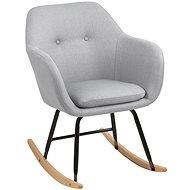 Milton Rocking Chair, Light Grey - Armchair