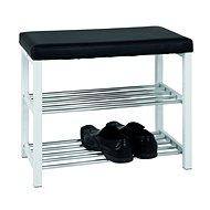 Bench with Tessa Shoe Rack, 57cm, Black/White - Bench