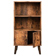 Silma Bookcase, 120cm, Brown - Bookshelf