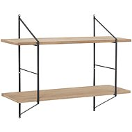 Fantasy wall shelf, 76 cm, wood / black - Shelf