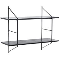 Fantasy wall shelf, 76, cm, black / black - Shelf
