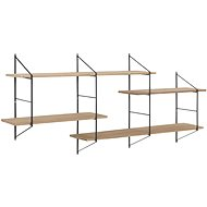 Fantasy Wall Shelf, 191cm, Wood/Black - Shelf