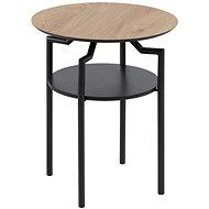 Odkládací / noční stolek Staden, 45 cm, dub/černá - Noční stolek
