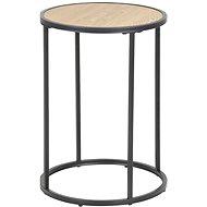 Odkládací / noční stolek kulatý Seashell, 40 cm, dub - Noční stolek