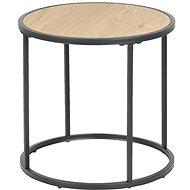 Odkládací / noční stolek kulatý Seashell, 45 cm, dub - Noční stolek