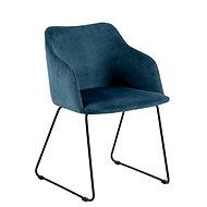 Židle s područkami Blanka (SET 2 ks), tmavě modrá - Židle