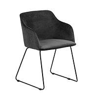 Židle s područkami Blanka (SET 2 ks), antracitová - Židle