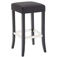 Barová stolička Tiana, textil, černá