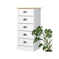 Lender I. Danish Style Chest of Drawers, 91cm, White - Chest of Drawers
