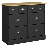 Lender III. Danish Style Chest of Drawers, 91cm, Black - Chest of Drawers