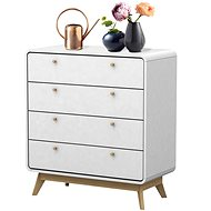 Danish Style Chest of Drawers Calin, 88cm, White - Chest of Drawers