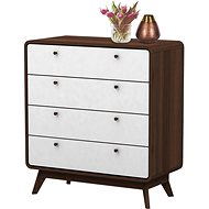 Calin Danish Style Chest of drawers, 88cm, Walnut - Chest of Drawers