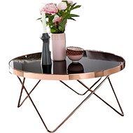 Brüxxi Konferenční stolek Lola, 80 cm, černá / měděná - Konferenční stolek