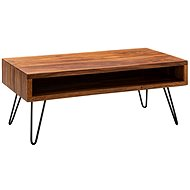 Brüxxi Konferenční stolek Belia, 100 cm, masiv Sheesham