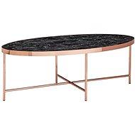 Brüxxi Konferenční stolek Kirst, 110 cm, černý mramor