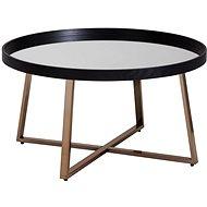 Brüxxi Konferenční stolek Jerry, 78 cm, černá / zlatá