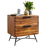 Brüxxi Noční stolek Greg, 60 cm, masiv Sheesham - Noční stolek