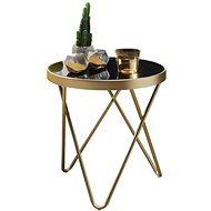 Brüxxi Odkládací stolek Cala, 46 cm, černá / zlatá