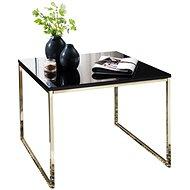 Brüxxi Odkládací stolek Bisa, 60 cm, černá / zlatá