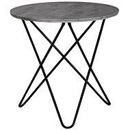 Brüxxi Odkládací stolek Elea, 60 cm, šedá