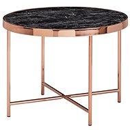 Brüxxi Odkládací stolek Kirst, 60 cm, černý mramor