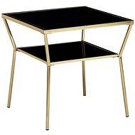 Brüxxi Odkládací stolek Gise, 50 cm, černá / zlatá