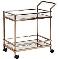 Brüxxi Serving trolley Helle, 84 cm, gold - Food Serving Trolley