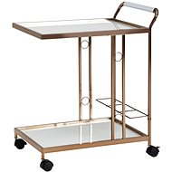 Brüxxi Serving trolley Naomi, 80 cm, gold - Food Serving Trolley
