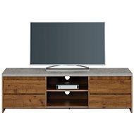 Danish Style TV stolek Mecan, 150 cm, beton / dub - TV stolek