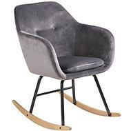 Rocking Chair Milton, Dark. Grey - Armchair