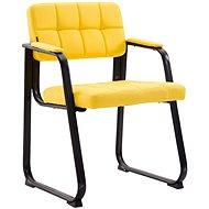 BHM Germany Landet kůže, žlutá - Konferenční židle