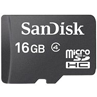 SanDisk MicroSDHC 16GB Class 4 - Paměťová karta