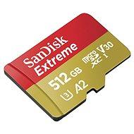 SanDisk MicroSDXC 512GB Extreme + SD adaptér - Paměťová karta