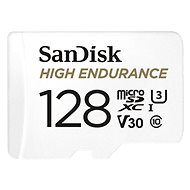 SanDisk microSDXC 128GB High Endurance Video U3 V30 + SD adaptér - Paměťová karta