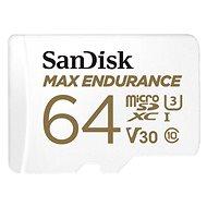SanDisk microSDXC 64GB Max Endurance + SD adaptér