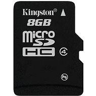Kingston MicroSDHC 8GB Class 4 - Paměťová karta